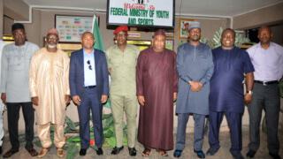 Ahmad visits Nigeria, promises to transform CAF