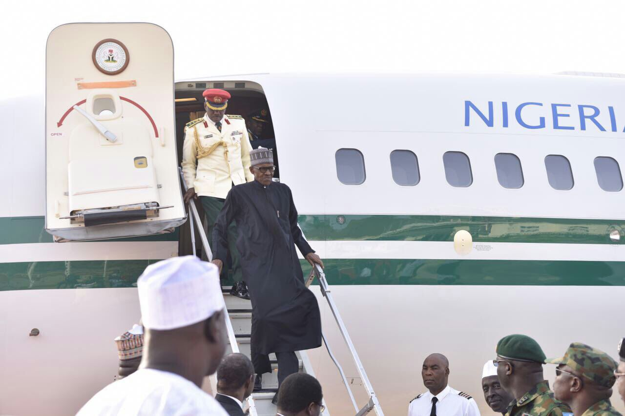 Breaking: At last, President Buhari returns to Nigeria