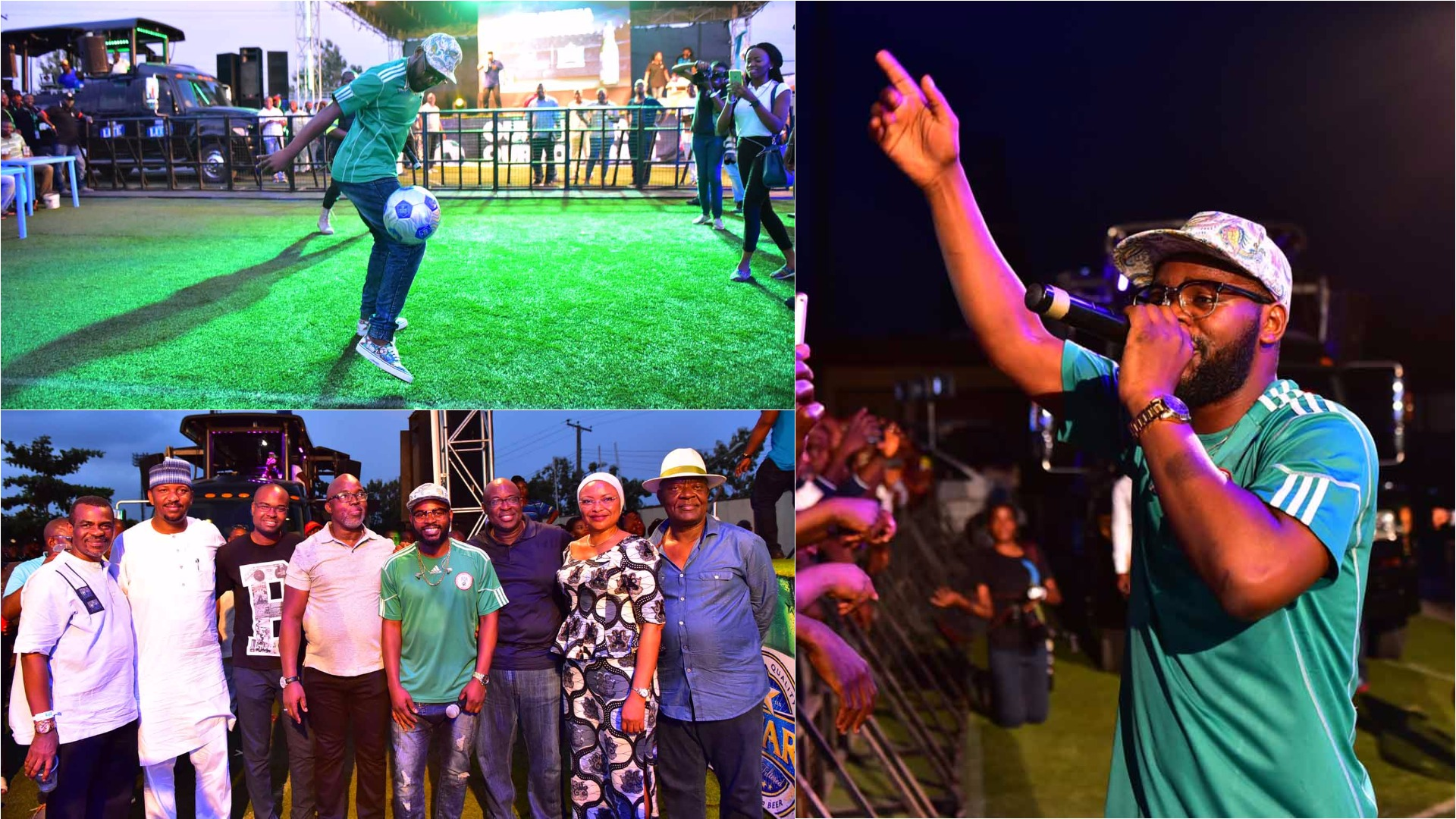 Falz thrilled fans at NPFL match in Lagos