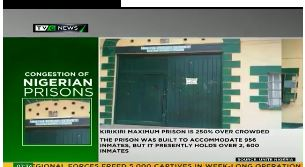 Increase in number of prison inmates in Nigeria