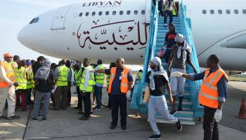 Another155 Nigerians return from Libya