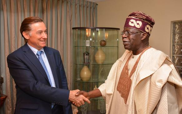 French Ambassador to Nigeria visits Bola Tinubu
