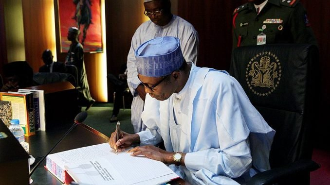 President Buhari officially resumes office, writes NASS