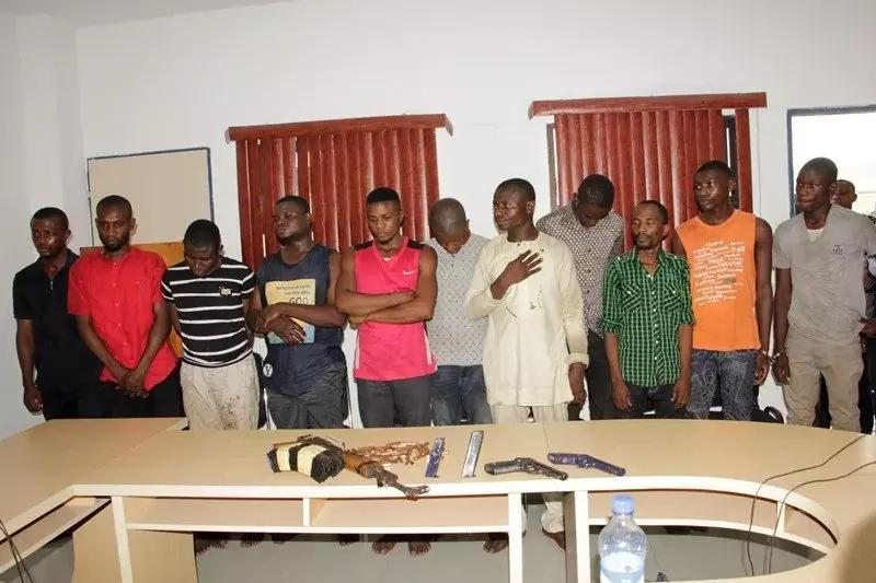 Police parade 11 suspected kidnappers including ex-DSS operative