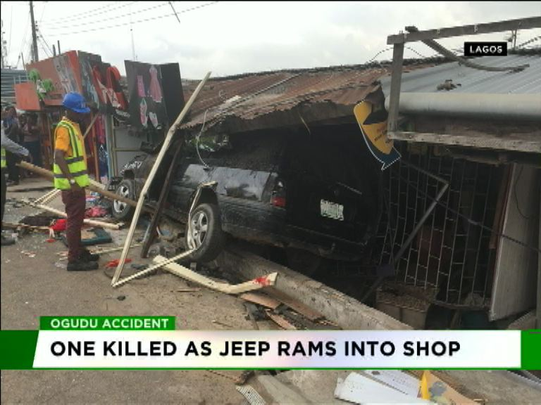 One killed as Jeep rams into shop in Ogudu