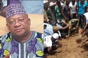 Breaking: Senator Isiaka Adeleke buried amidst tears