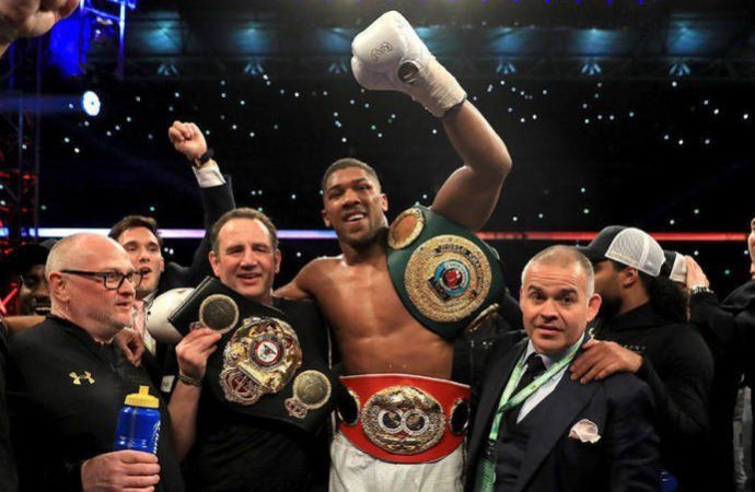 Anthony Joshua to defends his IBF, WBA & WBO titles in US on 1 June