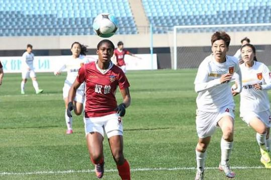 Asisat Oshoala happy with match winner for Dalian Quanjian