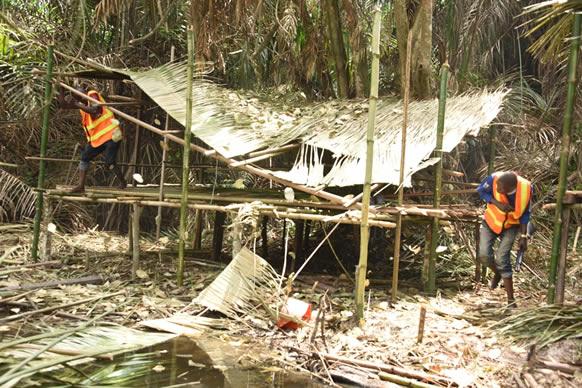 Police begin demolition of criminal hideouts in Ishawo community