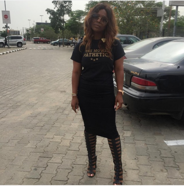 Bimbo Akintola shows off a Slimmer Figure