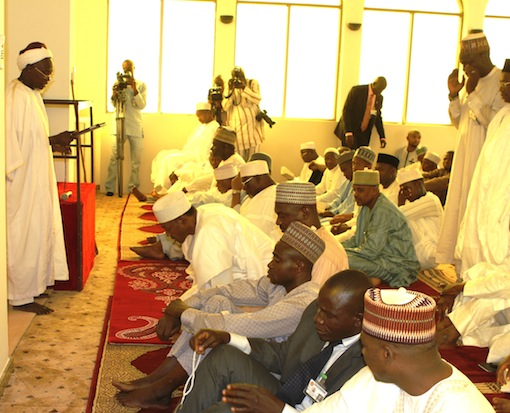 Kano, Kogi govs join Buhari for prayers