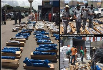 Customs intercepts guns in pop cement container