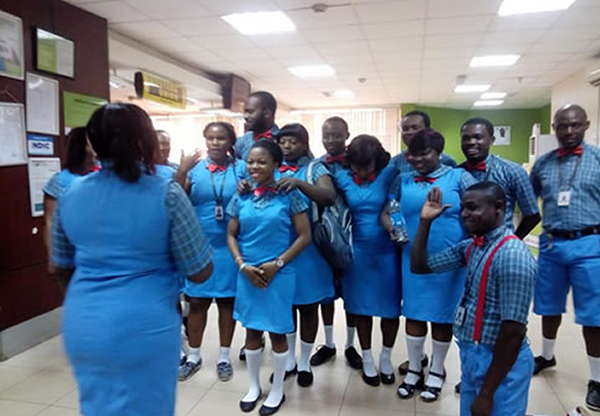 Photos: Diamond Bank staff dress in school uniform to mark Children's Day