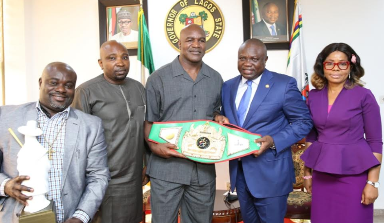 Evander Holyfield donates $3m health equipment to Lagos