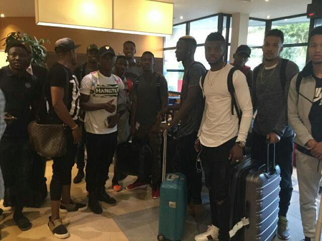 Eagles arrive Paris for Togo friendly
