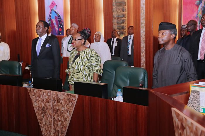 Osinbajo presides over Federal Executive Council meeting
