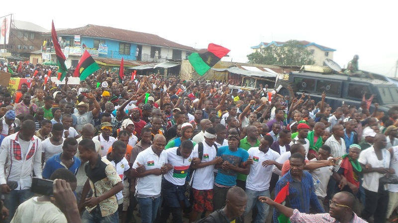 Biafra : Commercial activities shut down in Anambra, Imo