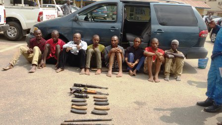 Kaduna Police command parade armed robbery kingpin, 35 other