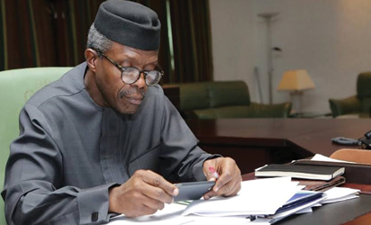 Osinbajo receives approved 2017 budget from NASS