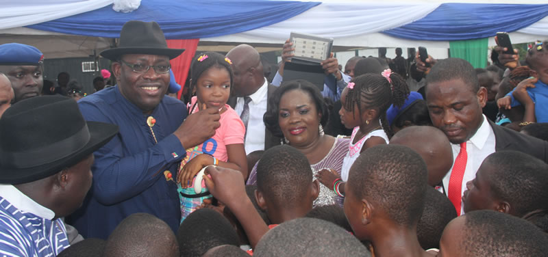 Wife of Bayelsa state governor hosts children at govt house