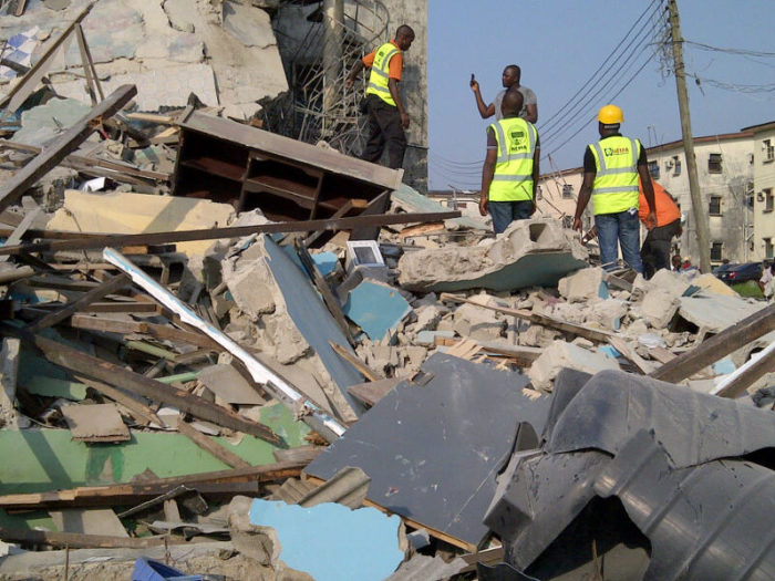 Three Storey building collapsed in Ilasa area of Lagos State