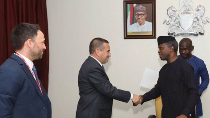Osinbajo receives ambassador of Israel
