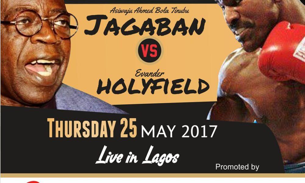 Boxing : Asiwaju Tinubu battles Holyfield in Lagos