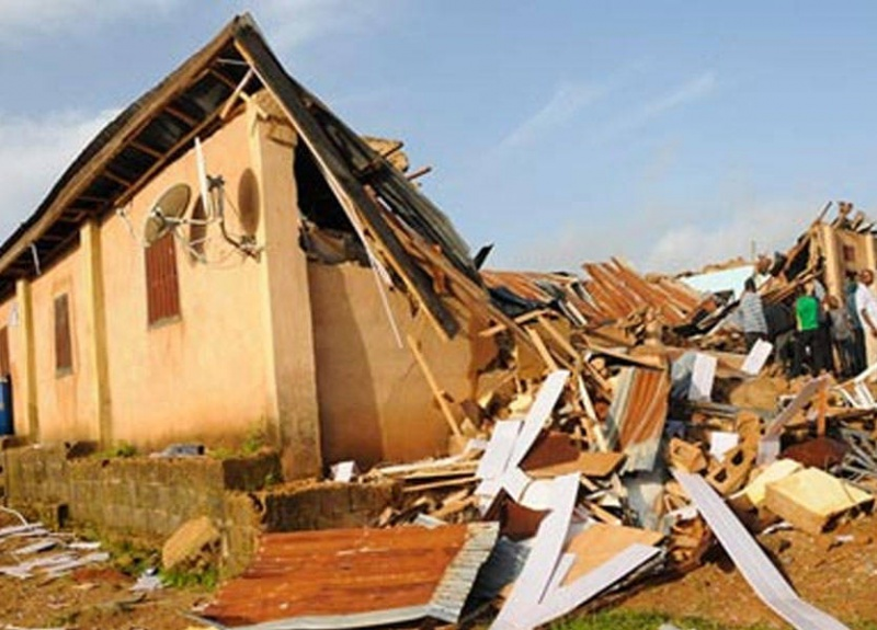 Rainstorm destroys more than 50 houses in Ondo