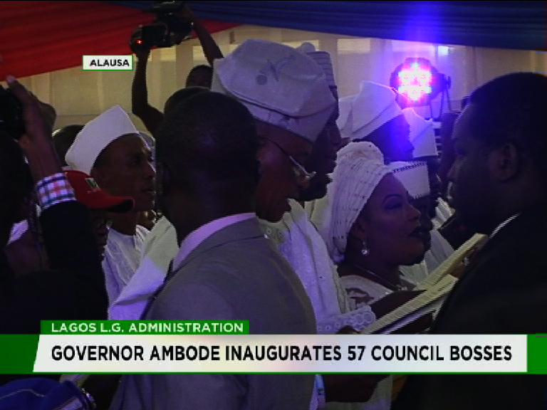 Ambode inaugurates 57 Council bosses
