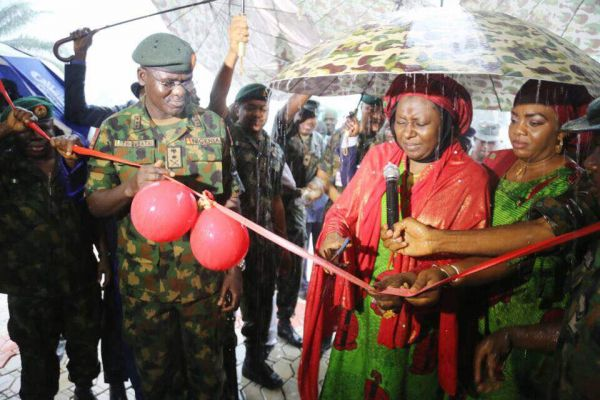Army chief inaugurates projects at Elele Barracks