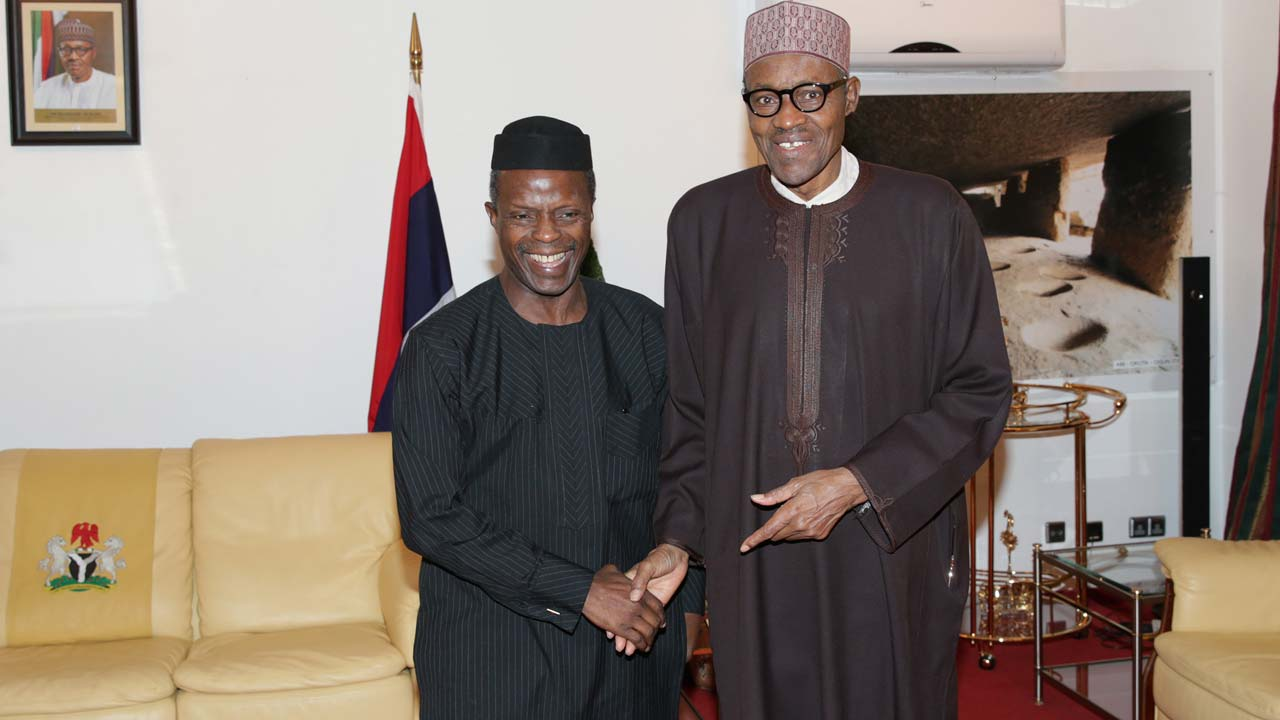 Osinbajo returns to Nigeria after meeting Buhari in London