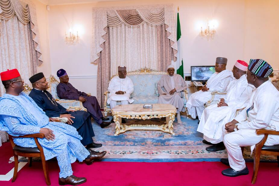 President Buhari receives seven governors in London