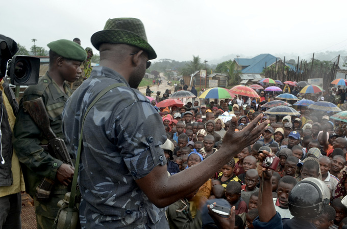 Wanted Congolses Warlord surrenders to U.N. forces