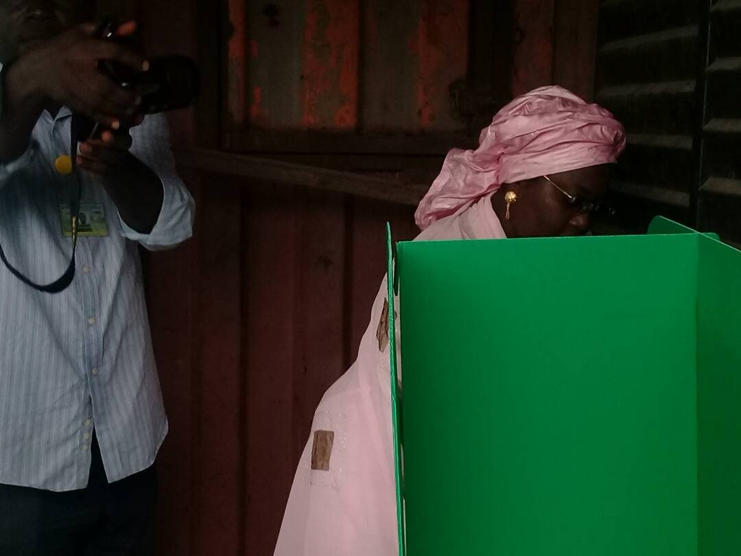 #LagosCouncilElections: Adebule votes, inspects other polling units