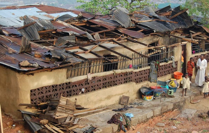 Rainstorm destroys houses and poles in Akure community