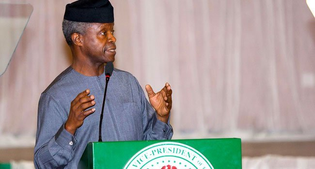 Osinbajo seeks national unity at Akande's wife funeral