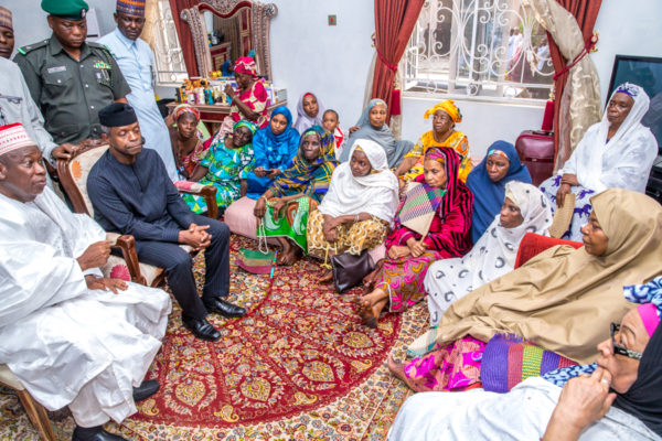 Acting President Osinbajo visits family of the late Maitama Sule
