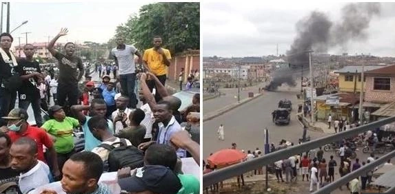 Ritual killing: Osun Varsity Students protest against death of Colleague