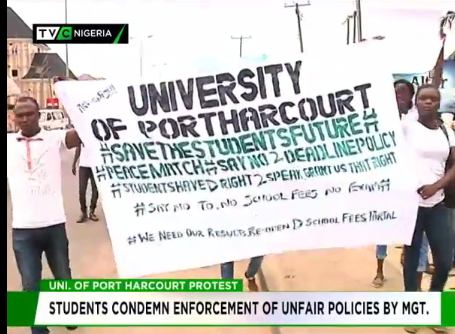 UNIPORT students condemn enforcement of unfair policies