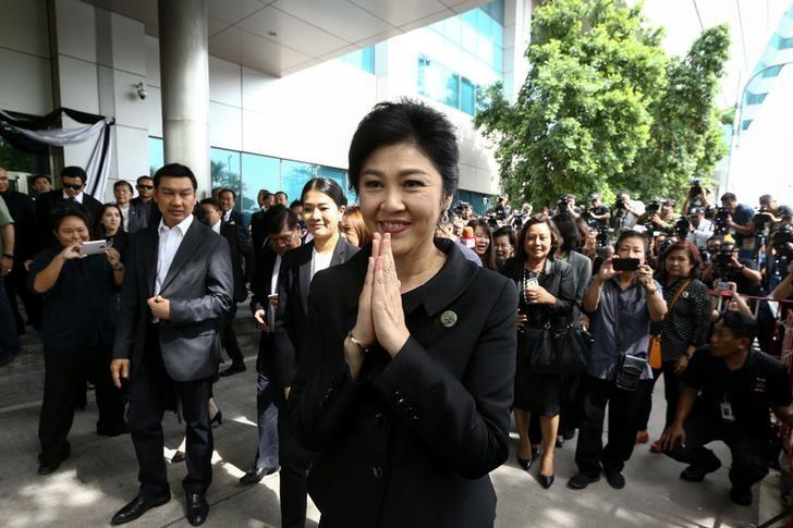 "Former Thai PM Yingluck seeks ""fan support"" amid asset freeze"