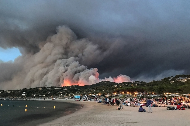 France wildfire : 12,000 forced to evacuate