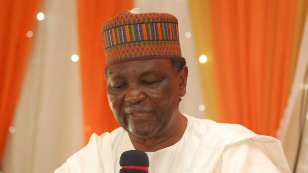 Former head of state Yakubu Gowon prays for Nigeria
