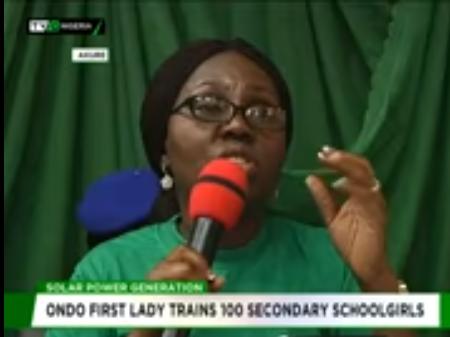 Akeredolu's wife trains 100 Secondary Schoolgirls on Solar power generation