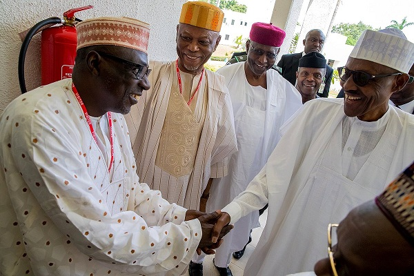 Buhari meets with APC, PDP leaders and 36 states Governors in Abuja