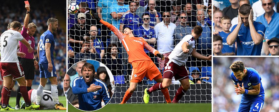 EPL : 9-man Chelsea off to abysmal start, lose 3-2 against  Burnley