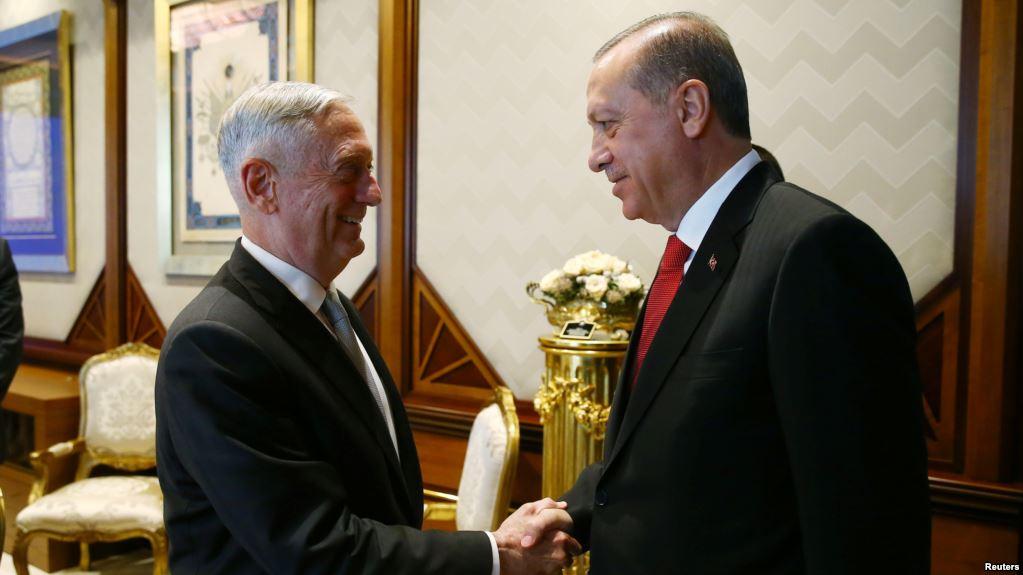 US Defence Secretary, Erdogan meet on Security concerns