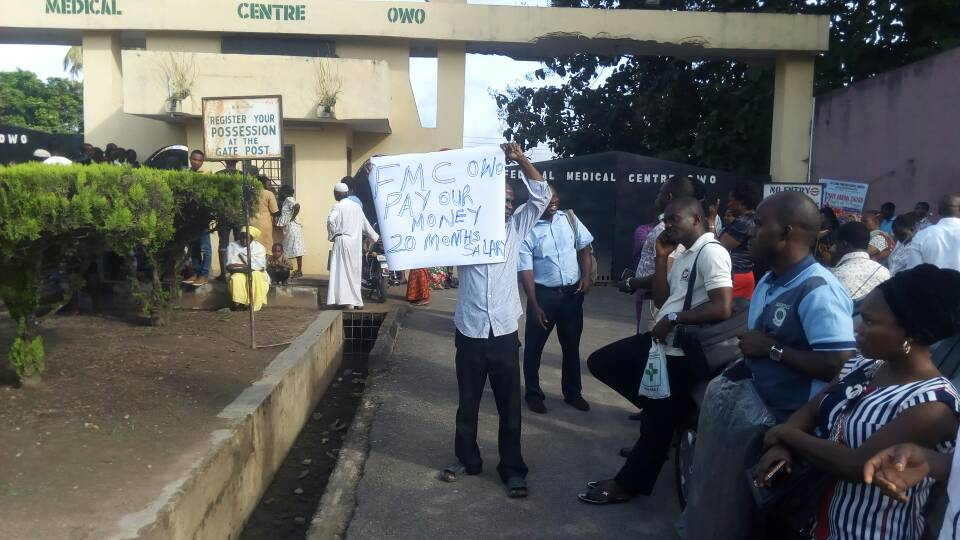 Ondo FMC workers shut gate over unpaid wages