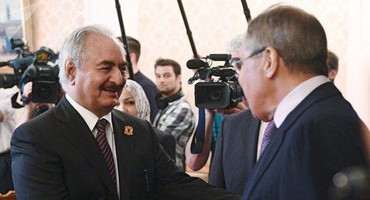 Libyan Commander Haftar meets Russia's Lavrov