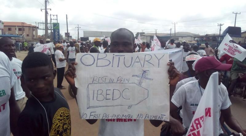 Ogun residents protest against IBEDC's estimated billing