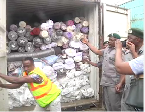 Customs impounds 40ft container of Army Camouflage